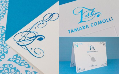 TAMARA COMOLLI Invitation // designed for www.aignerboettcherdesign.de