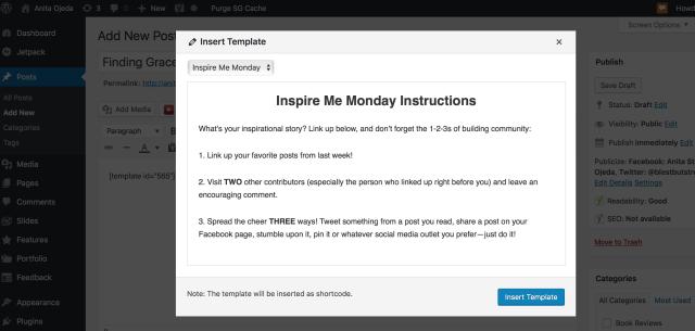 template plugin