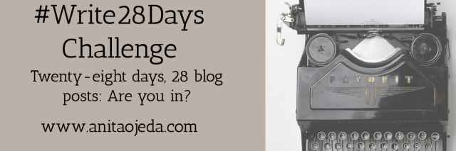Join us for a 28-day blogging challenge! #amwriting #blogger