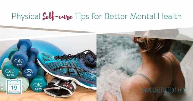 Whether you suffer from low energy, have bipolar disorder, struggle with depression, or just feel out of sorts, the key to improving your mental health starts with a good physical self-care routine. #mentalhealth #mentalhealthmonth,#4Mind4Body,#NAMI, #bipolar #bipolardisorder,#anxiety, #depression, #panicattacks,#selfcare #physicalselfcare