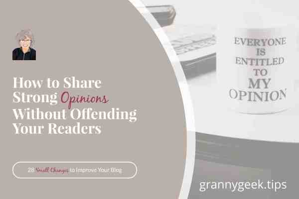 Opinions—we all have them, and we all want to share them. But how can we share our opinions without offending others? Learn about core values and holding space. #corevalues #opinions #blogger #holdingspace #Controversy