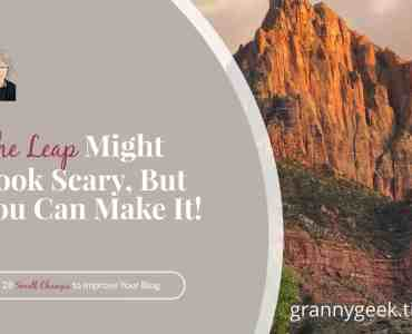 Making the leap to changes looks scary, but you can do it! If the definition of insanity is 'doing the same thing over and over and expecting different results,' then the definition of sanity is taking the leap to something new. #change #goals #expectations #write28days #bloggrowth #personalgoals #blogger #amwriting