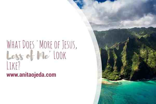 What does 'more of Jesus, less of me' mean to you? Is it just a symbol with no meaning? Or something you try to practice in your life? #He>i #Christian #Christianwalk #selfcare #Jesus