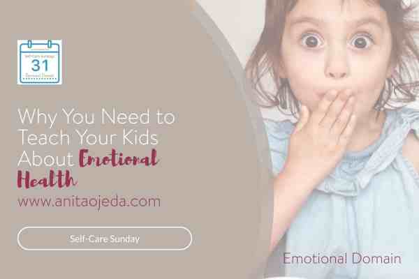 Teaching your kids about emotional health can be the difference between life and death. Practical tips to teach your kids no matter what their age. #parenting #parent #emotionalhealth #selfcare #selfcaresunday #mentalhealthmonth