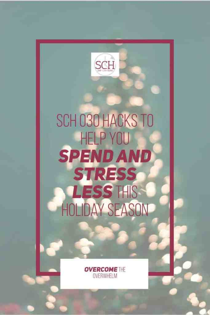 Want to know how to spend less AND stress less this holiday season? I've got nine hacks to help you do just that. #stress #holidayseason #giftgiving #samaritanspurse #toysfortots #prisonfellowship #makeawish #mytwofrontteeth #salvationarmy #socialjustice #Christmas