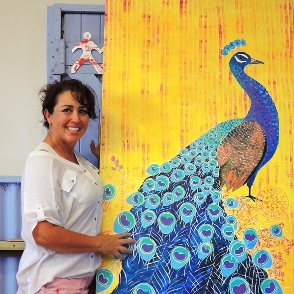 peacock art with Anita Revel
