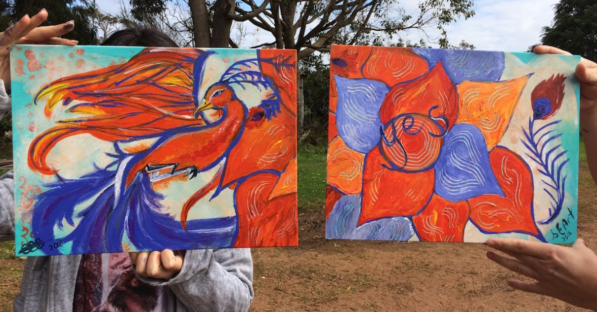 how to paint a diptych cowaramup