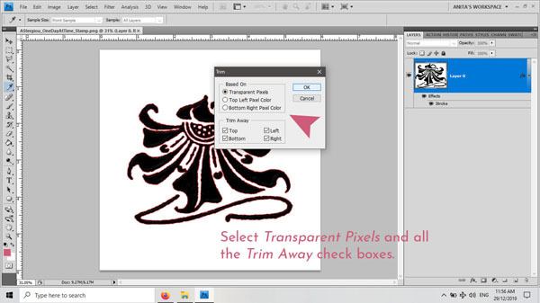 Anita Richards Designs | Digiscrap 1173 | Tutorial: How to Safely Trim Away Excess Pixels image 06