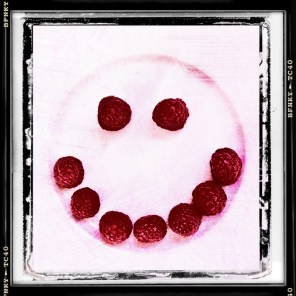 Smile Again: Day 5 Fresh Raspberries on a Dinner Plate