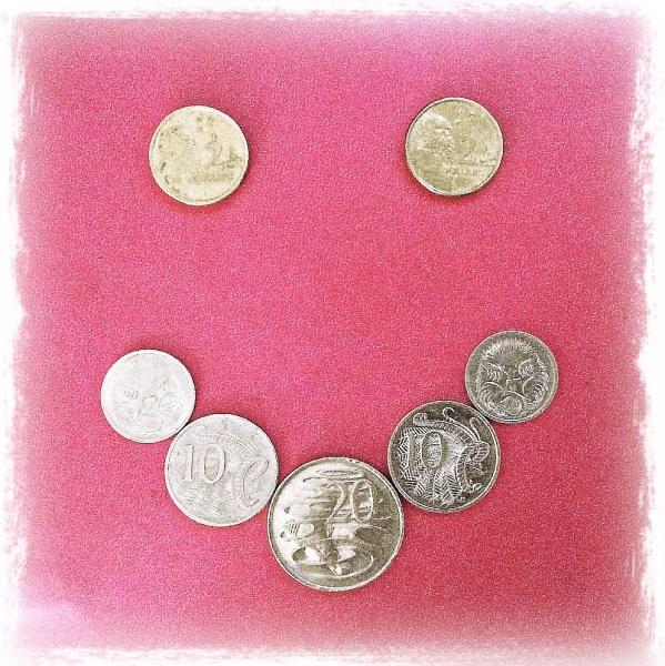 Smile Again: Day 14 Australian Coins on Journal Cover