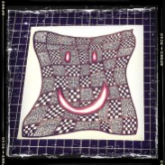 Smile Again: Day 15 Zentangle Inspiration Inked on Plain Paper