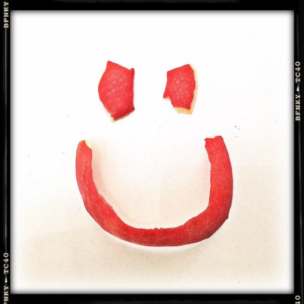 Smile Again: Day 26 Mandarine Peel on Dinner Plate