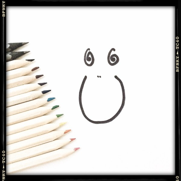 Smile Again: Day 30 Marker Pen on Plain Paper with Pencil Set Embellishments