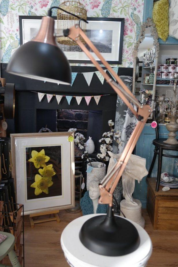 Copper & Black Angle Poise Lamp