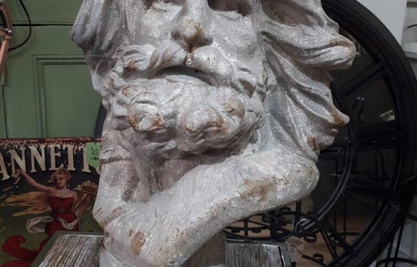 Long Haired Resin Male Bust