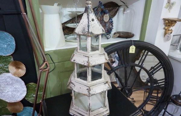 Distressed pagoda lantern
