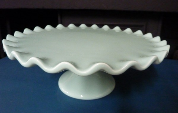 """Sage ruffled cakes stand 11"""" wide"""
