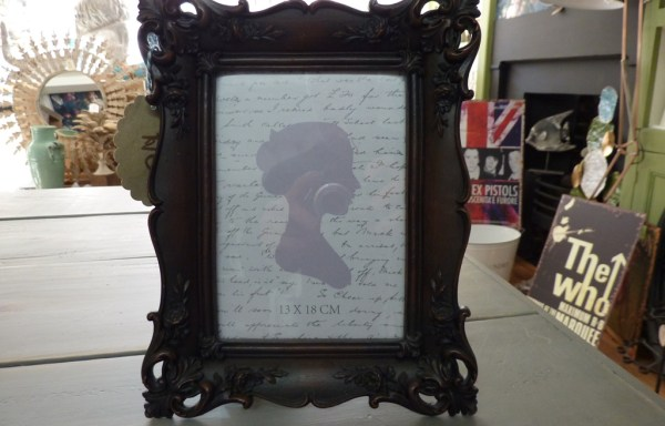 Wood effect picture frame