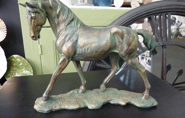 """Antiqued Horse On Base 10"""" X 12"""""""