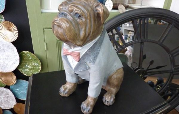 "Large Dressed Bulldog Decoration 15"" X 12"""