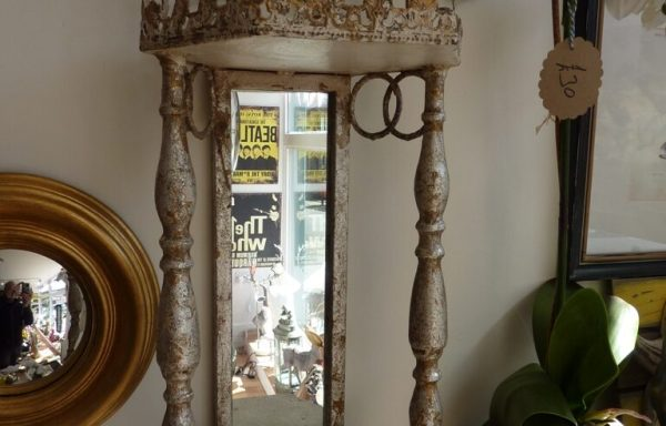 """Metal Shabby Chic French Style Wall Sconce & Shelf 24"""" Tall £75"""