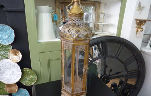 "Tall Antique Style Lantern 25"" Tall"