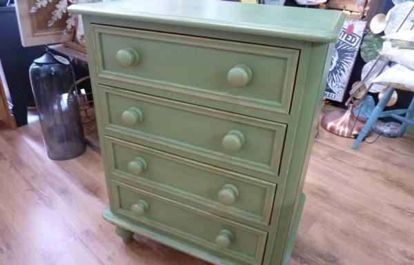"Pine Drawers Shabby Chic Sage Green Chalk Paint 33"" tall x 26"" wide x 18"" deep £145"
