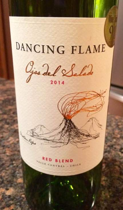 Dancing Flame wine from Aldi