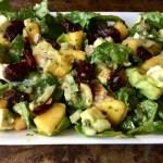 Spinach Peach Salad
