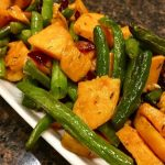 Roasted Green Beans and Sweet Potato with Cranberries