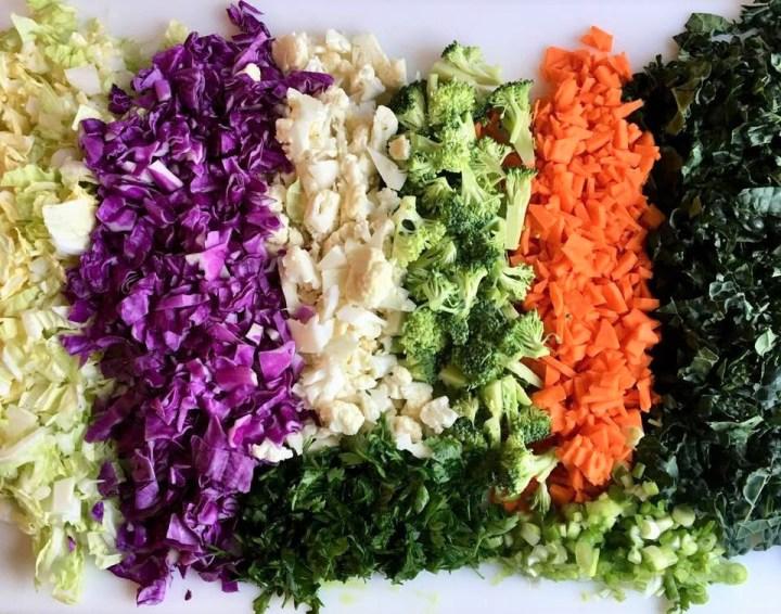 Detox Salad Ingredients