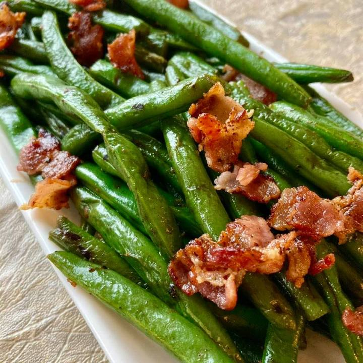 Jim's Green Beans with Bacon