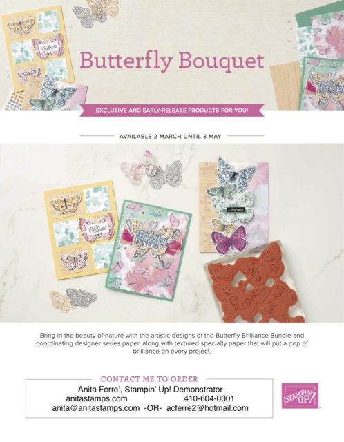 Stampin' Up! NEW Annual Catalog 2021 pre-release Butterfly Bouquet products