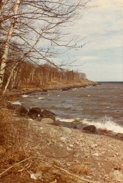 Lake Superior on the shores of Tofte, MN 1970's