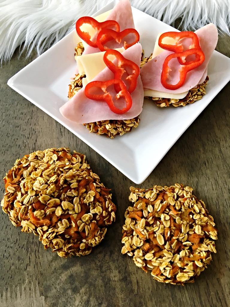 Havrebrød med gulrot – kun 3 ingrediensar!