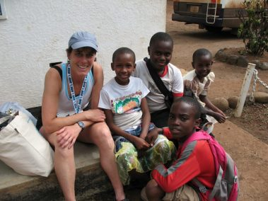 Africa with kids after running a marathon