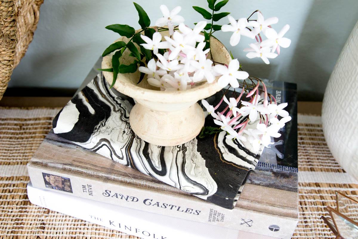 Flower Coffee Table Books Lifestyle Modern Neutral