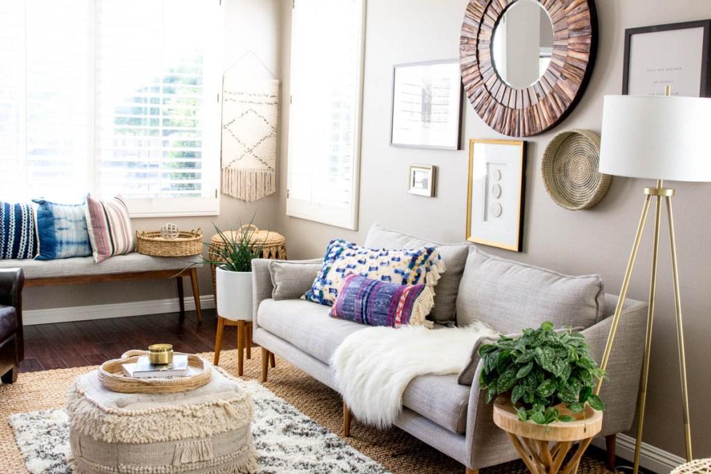 Light and Bright Boho Modern Living Room