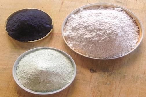 Indigo, Iron, Lime powder to make Indigo dye