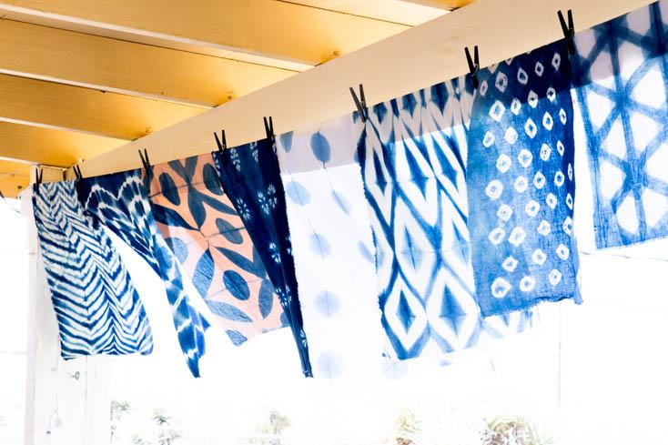 shibori dyed linen in the Joshua Tree Desert // Sneak Peek: My amazing Joshua Tree Desert experience + self care
