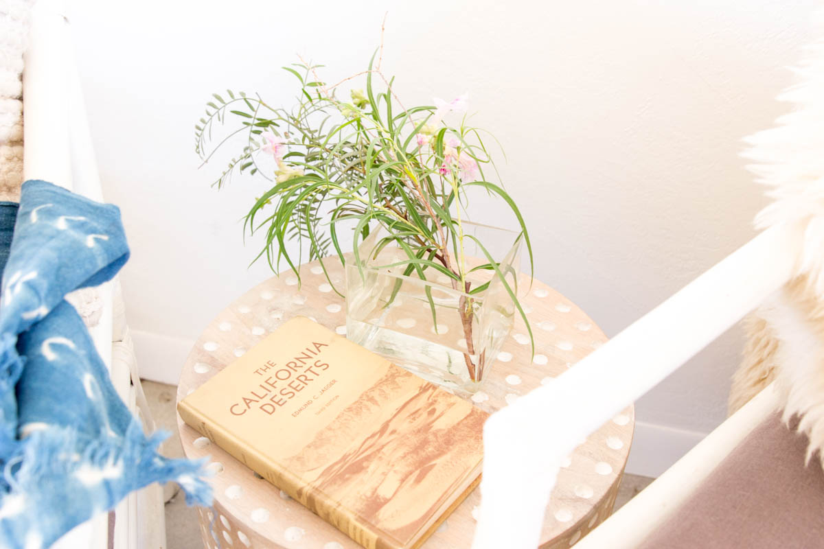 california desert book coffee table flowers indigo throw