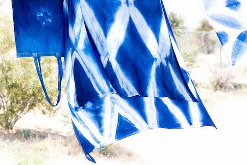 Large diamond shape Shibori pattern