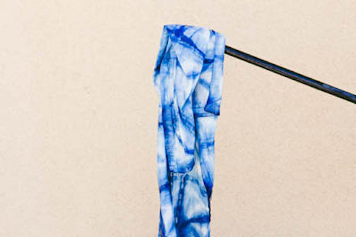 Citric acid wash to PH balance fabric and dye