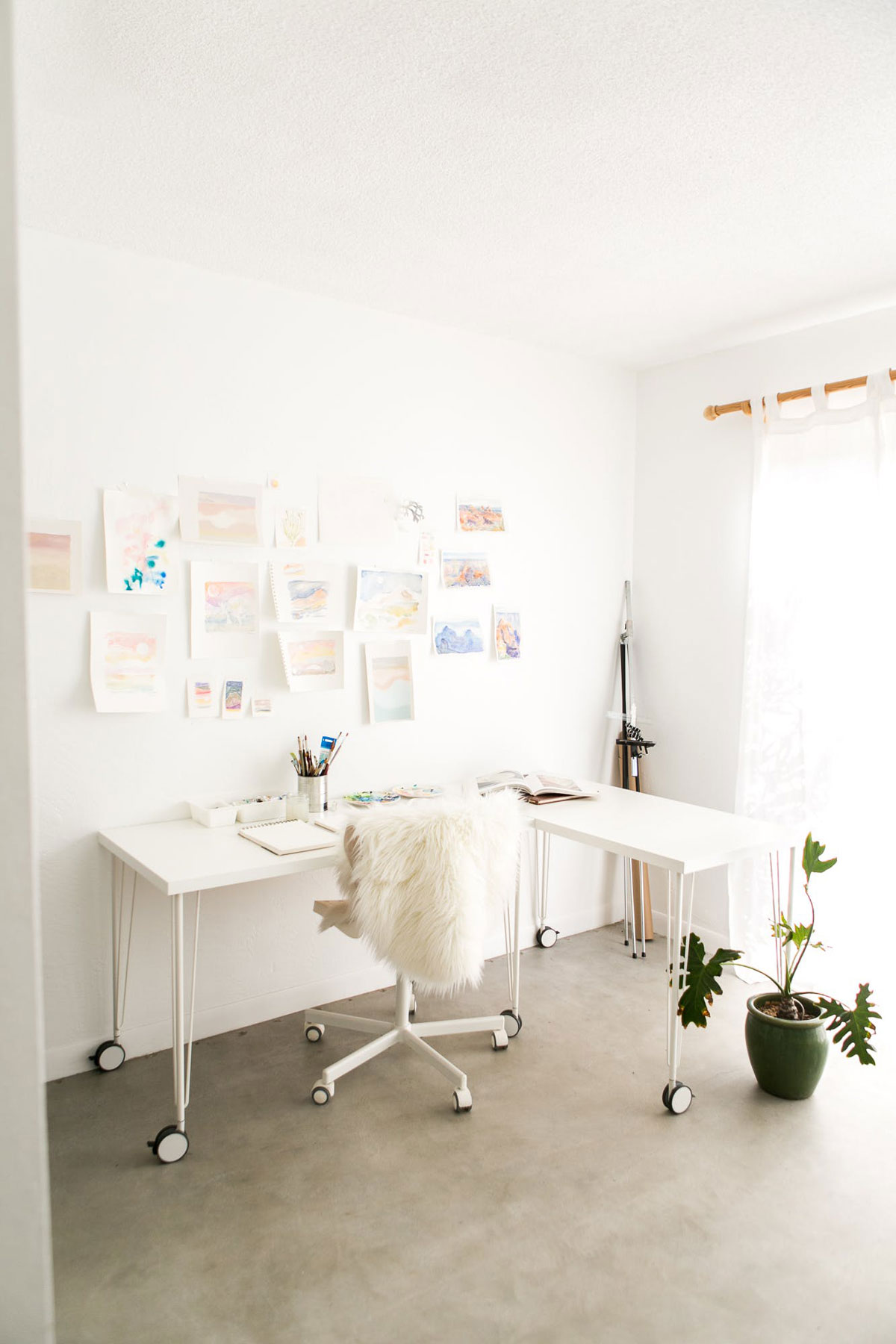 Desert Inspired Office at Casa Joshua Tree Apartment Therapy Home Tour Photo Cred: Marisa Vitale
