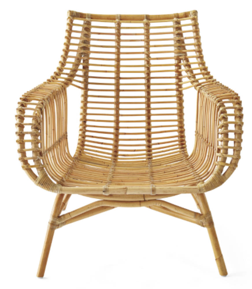 serena and lily rattan side chair