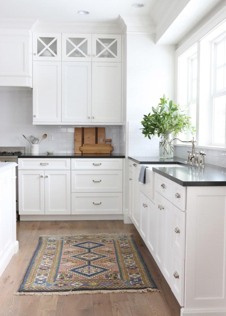white kitchen vintage runner amber interiors