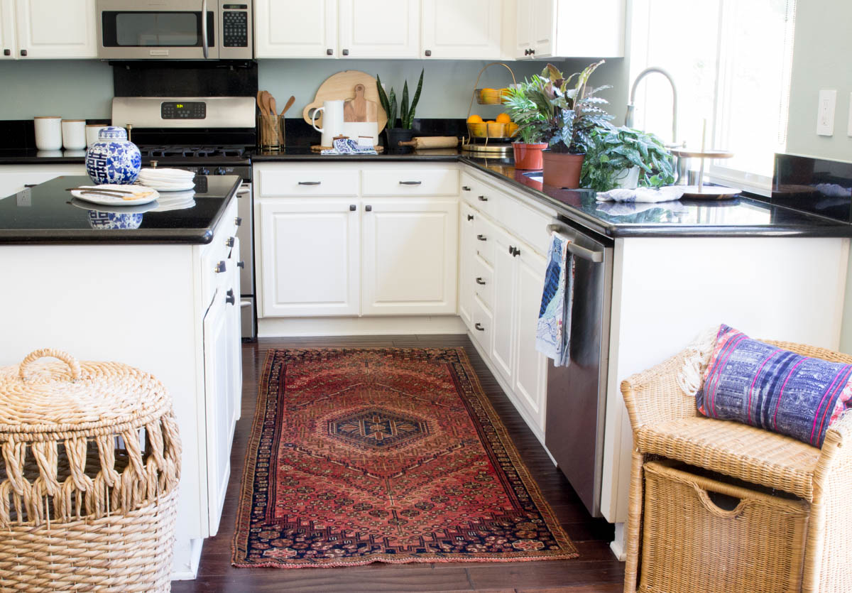 white kitchen black granite countertops