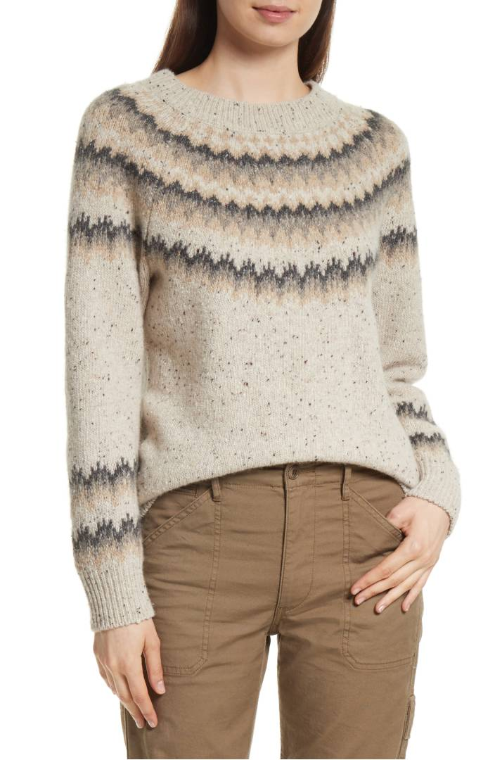 vince fair isle sweater