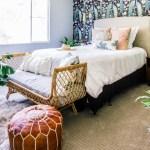 *Bold* Master Bedroom Makeover Part 1: Removable Wallpaper
