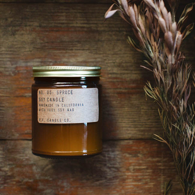 PF candle co spruce